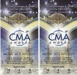 Neal's CMA Awards Tickets